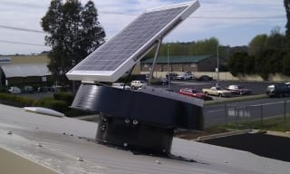 Solar whiz installed on roof