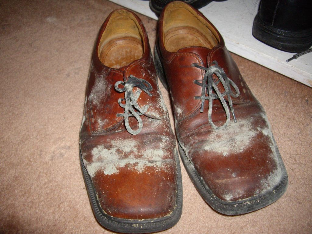 Mouldy shoes in wardrobe