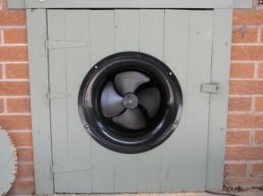 Solar Subfloor Fan Mounted In Door