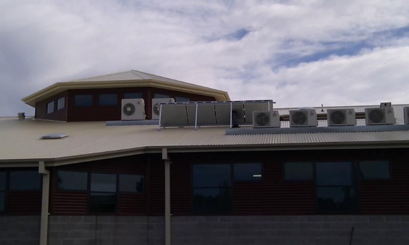 Installed on roof solar whiz