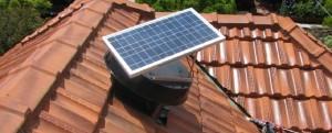 Solar Whiz unit on tile roof