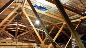 Interior roof space at Ormiston Church
